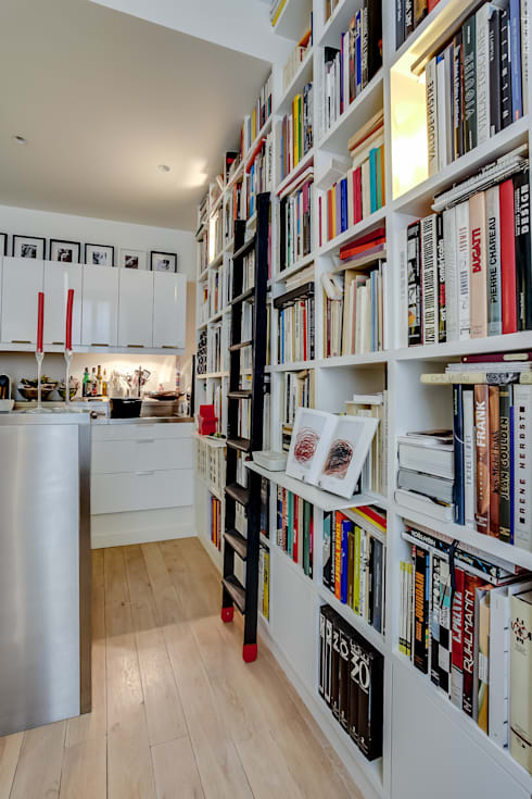 Bibliothèque: Salon de style de style Moderne par ATELIER FB