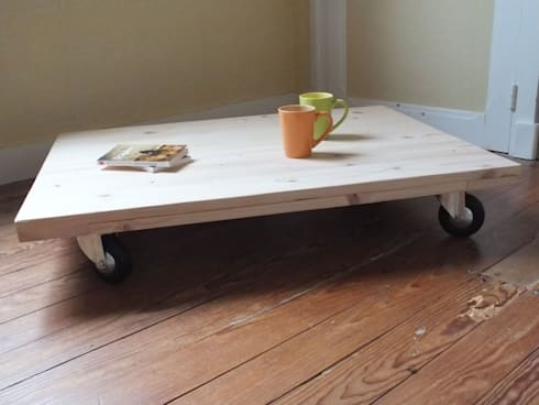 Table Basse Sur Mesure En Bois De Palette Par La Fée Rabote | Homify