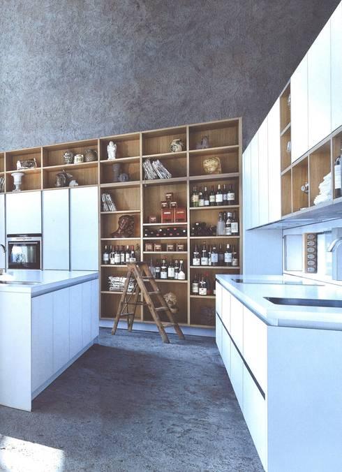 NX902 Polariswit mat glas: moderne Keuken door Eiland de Wild Keukens