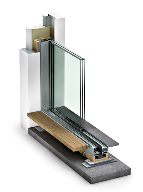 minimalistische Fenster & Tür von Impronta