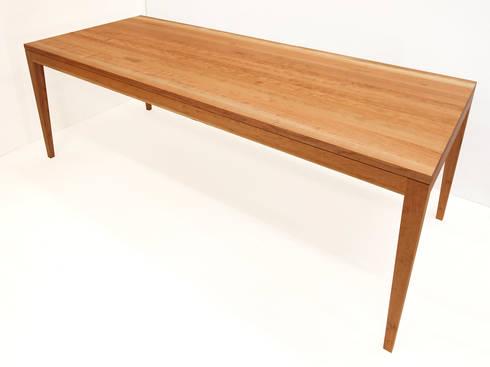 tisch no 1 in kirsche massiv ge lt esstisch einzelanfertigung 200 80 75 di individual. Black Bedroom Furniture Sets. Home Design Ideas