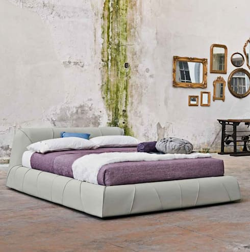 'Sfree' upholstered storage bed  by Veneran:  Bedroom by My Italian Living
