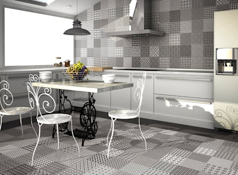 modern kitchen by gama ceramica y bao