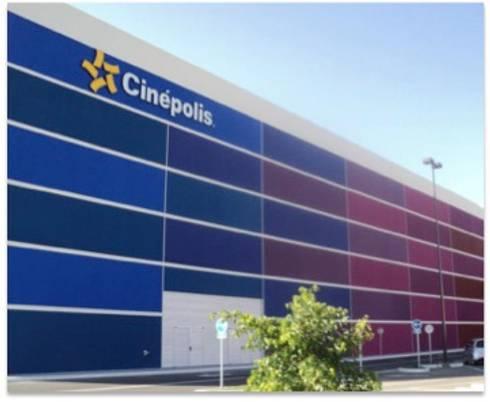 CINEPOLIS: Estudios y oficinas de estilo moderno por Corev de México