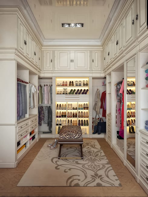Walk in closet de estilo  por Sweet Home Design