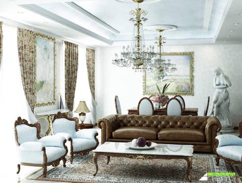 Arredo classico di un soggiorno di lusso di Arienti Design | homify
