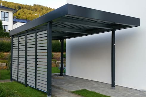 hochwertige carports aus stahl von myport made in germany von myport gmbh homify. Black Bedroom Furniture Sets. Home Design Ideas