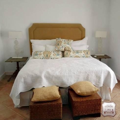 tapizado de cabecero de cama y confeccin de cubre colchones dormitorios de estilo rstico de