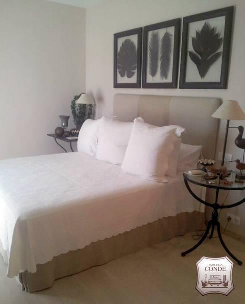 tapizado de cabecero de cama y confeccin de cubre colchones dormitorios de estilo moderno de