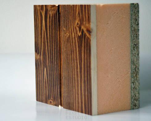 Panel sandwich de madera con n cleo aislante y acabado - Panel sandwich de madera ...
