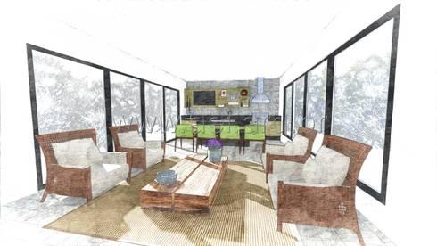 Espaço Gourmet: Cozinhas modernas por aei arquitetura e interiores