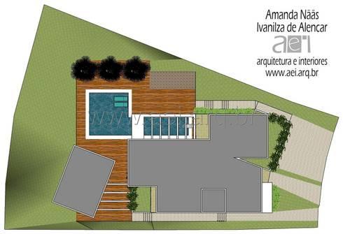 Implantação: Casas modernas por aei arquitetura e interiores