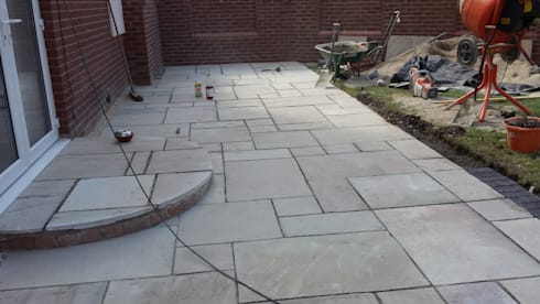 Mint Fossil Natural Indian Sandstone Patio