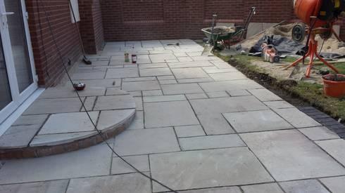 Mint fossil Natural Indian sandstone patio by Elite Landscapes ...