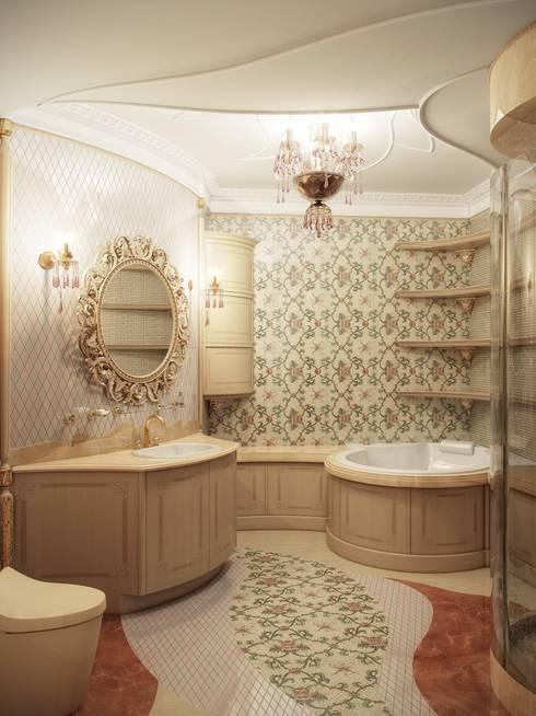 Гранатный переулок дом 6: Ванные комнаты в . Автор – Premier Dekor