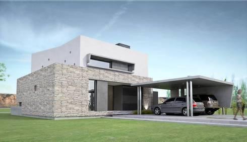 Vivienda en La Peregrina: Casas de estilo moderno por Chazarreta-Tohus-Almendra