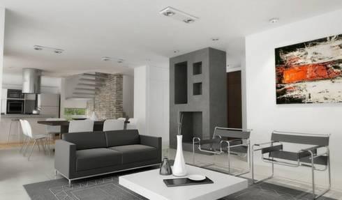 Vivienda en La Peregrina: Livings de estilo moderno por Chazarreta-Tohus-Almendra