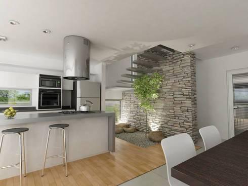 Vivienda en La Peregrina: Cocinas de estilo moderno por Chazarreta-Tohus-Almendra
