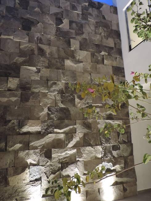 Casa SF: Pasillos y recibidores de estilo  por acosta arquitecto