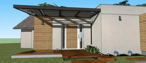 Casa Mateolli:  de estilo  por ApConstrucciones