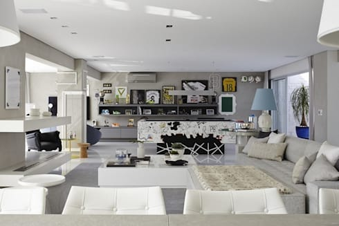 Cobertura Central Park SP: Salas de estar modernas por Lovisaro Arquitetura e Design