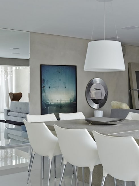 Cobertura Central Park SP: Salas de jantar modernas por Lovisaro Arquitetura e Design