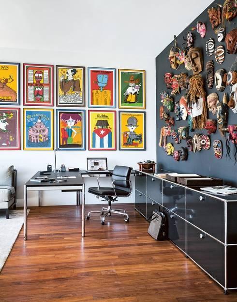Wohnen mit USM:  Arbeitszimmer von USM Möbelbausysteme