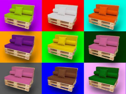 sof de palet europeo hogar de estilo de