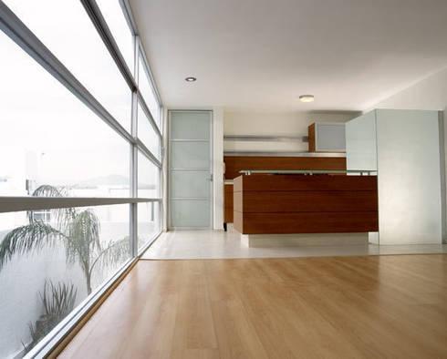 B221: Cocinas de estilo moderno por Micheas Arquitectos