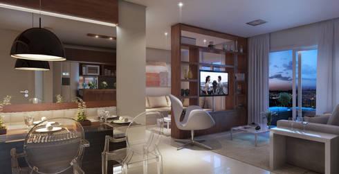 Condomínio São Roque: Salas de estar modernas por Lodo Barana Arquitetura e Interiores