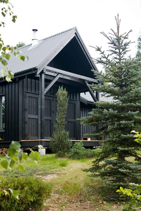 Widok z zachodu, elewacja południowo-zachodnia: styl , w kategorii Domy zaprojektowany przez Magdalena Zawada