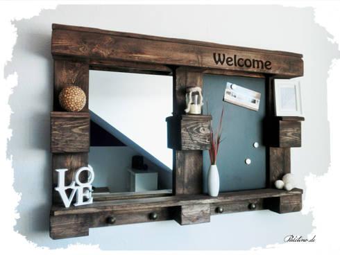 spiegel memo wandregal aus europalette von paletino homify. Black Bedroom Furniture Sets. Home Design Ideas