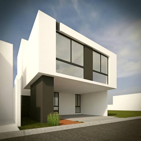 Fachada Principal Opción B: Casas de estilo minimalista por RTstudio