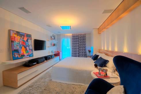 Edifício Maison Karine 02: Quartos  por Rodrigo Maia Arquitetura + Design