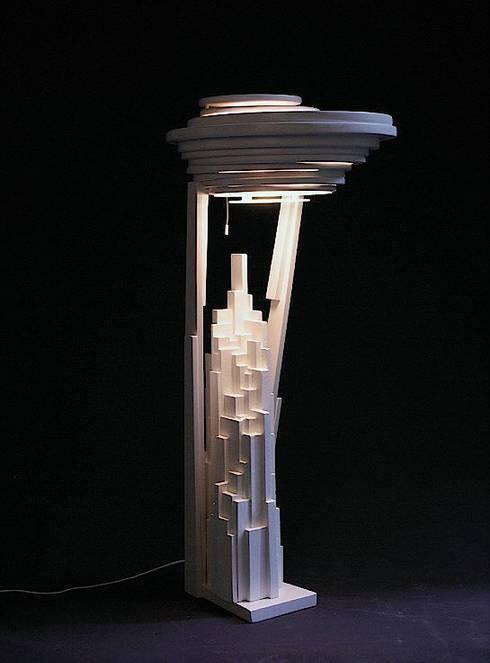 Bureaulamp  (XVI):  Studeerkamer/kantoor door atelier De Zondagse Kamer