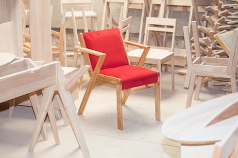 Silla Valencia: Comedores de estilo moderno por BLVD / Boulevard Furniture