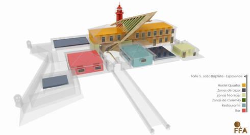 PT - Organigrama Programático; EN - Program Diagram; FR - Schéma du programme: Hotéis  por Office of Feeling Architecture, Lda