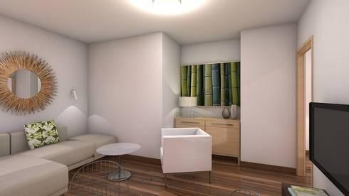 Reforma piso de 43m² útiles. : Salones de estilo minimalista de beatriz gala reformas e interiorismo
