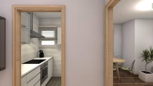 Reforma piso de 43m² útiles. : Cocina de estilo  de beatriz gala reformas e interiorismo