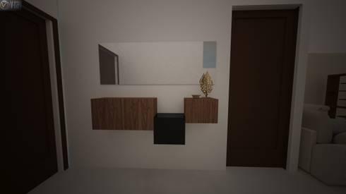 Proyecto Vergel : Pasillos y recibidores de estilo  por Beatriz Quiroz Interiorismo