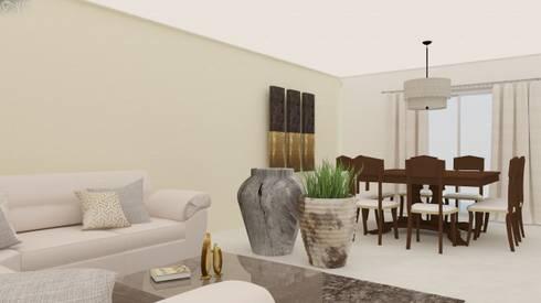 Proyecto Vergel : Salas de estilo moderno por Beatriz Quiroz Interiorismo
