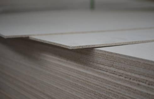 Placas MGO Magnésiopan: Parede e piso  por A EXCLUSIVA - Sustainable Buildings Materials
