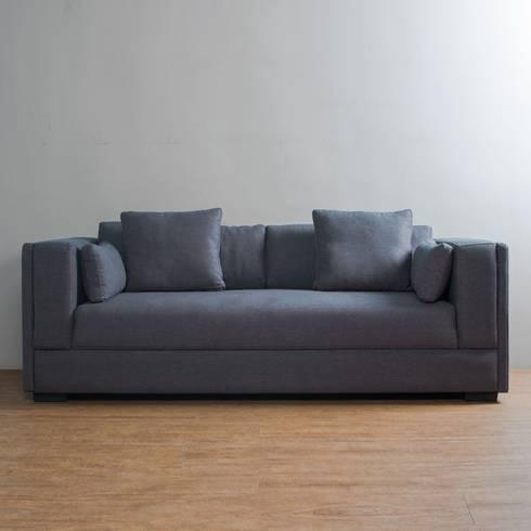 Sofa Prisma Nubia 040: Salas de estilo minimalista por mobica