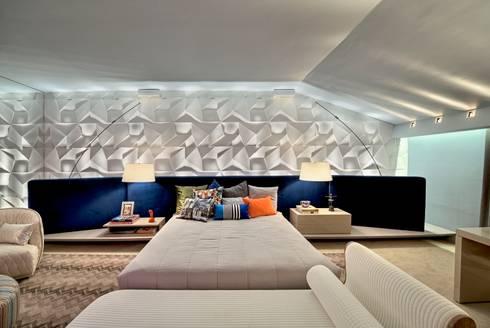 Casa Cor Ceará 2012: Quartos  por Rodrigo Maia Arquitetura + Design