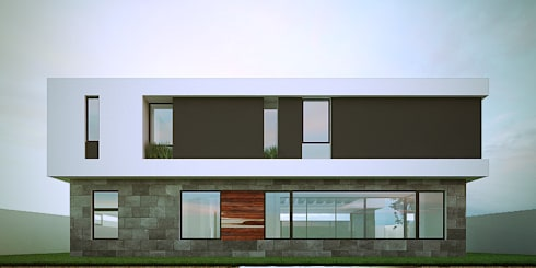 Fachada Posterior: Casas de estilo minimalista por RTstudio