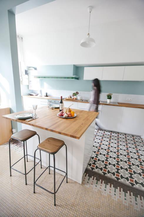Sarah's Home: Cuisine de style de style Minimaliste par Marie Dumora