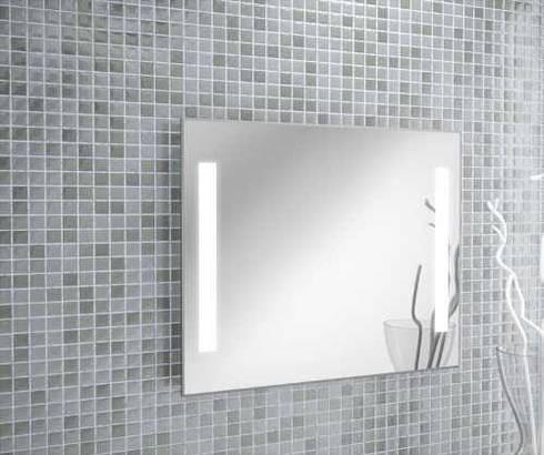 espejo luz led baos de estilo por oikos design