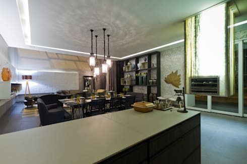Living Gourmet : Salas de jantar modernas por RABAIOLI I FREITAS