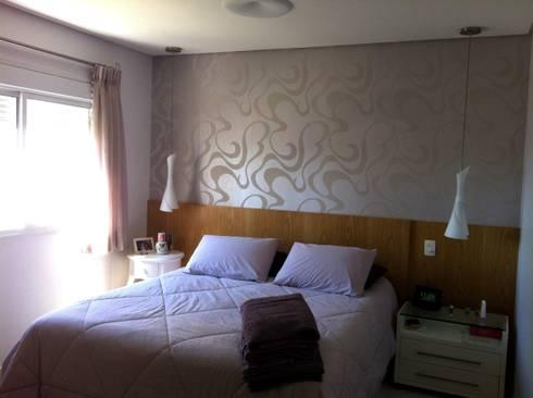 Apartamento Condomínio Central Park - Mooca: Quarto  por Projetual Arquitetura