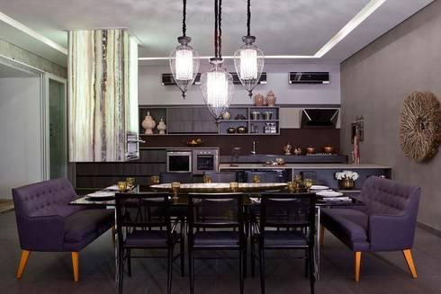Ambientes integrados: Salas de jantar modernas por RABAIOLI I FREITAS